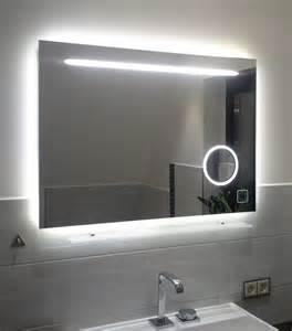 badspiegel design design led spiegel mit integriertem kosmetikspiegel 60 80 cm badspiegel kaltweiß bestseller