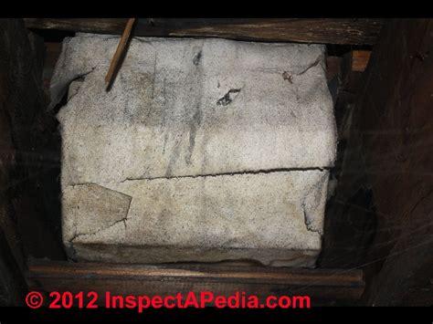 identify asbestos paper duct wrap  buildings