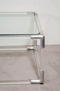 mid century lucite and chrome rectangular coffee table w With mid century rectangular coffee table