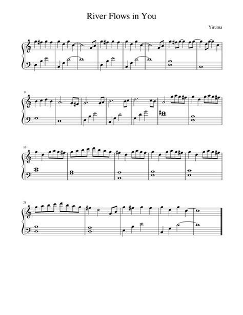 'river flows in you' is one of yiruma's greatest successes. River Flows in You Sheet music for Piano (Solo) | Musescore.com