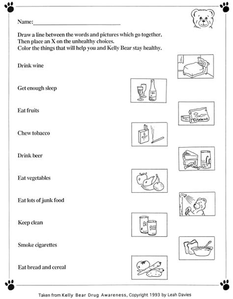 images  fun wellness worksheets healthy
