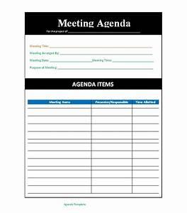 Conduct Chart Printable 22 Meeting Agenda Templates Word Templates