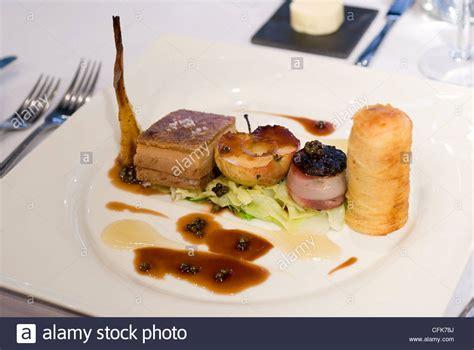 cuisine nouvelle nouvelle cuisine pork dish in a michelin restaurant