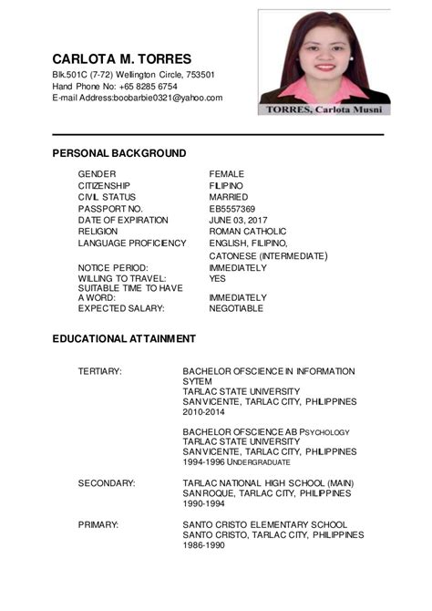 Oif Resume Definition by Carlota M Torres Updated Resume
