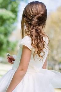 Coiffure Facile Pour Petite Fille : coiffure de mariage petite fille ~ Nature-et-papiers.com Idées de Décoration
