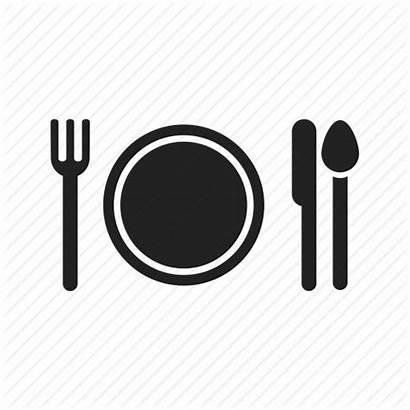 Icon Eat Eating Dinner Fork Plate Knife
