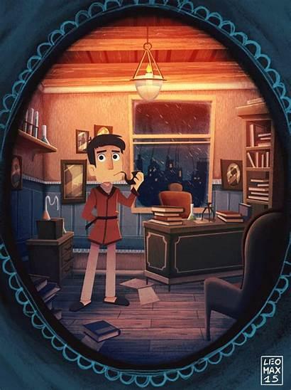 Sherlock Holmes Animated Leo Massimo Behance Illustrations