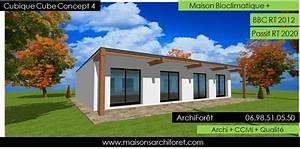 plan maison cube plain pied blitz blog With attractive plan de maison cubique 15 maison plein pied moderne mc immo