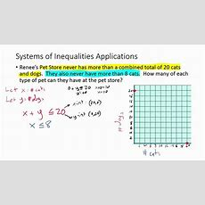 Systems Of Inequalities Word Problems (example 1) Youtube