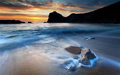 Sea Beach Sunset Perfect Desktop