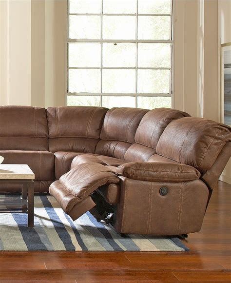 jedd 6 pc fabric sectional sofa with 2 power recliners