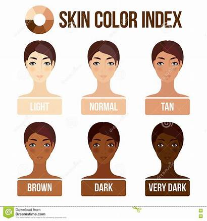 Skin Chart Clipart Vector Types Race Dark