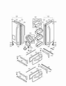 Door Parts Diagram  U0026 Parts List For Model Lmx21984st Lg