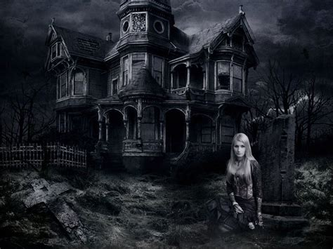 Background Haunted House by Haunted House Desktop Wallpapers Wallpaper Cave