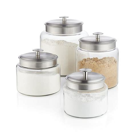 clear glass kitchen canisters classic lidded clear glass canisters store and display
