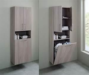 Meuble Panier à Linge : toutes nos gammes meuble salle de bains sanijura ~ Teatrodelosmanantiales.com Idées de Décoration