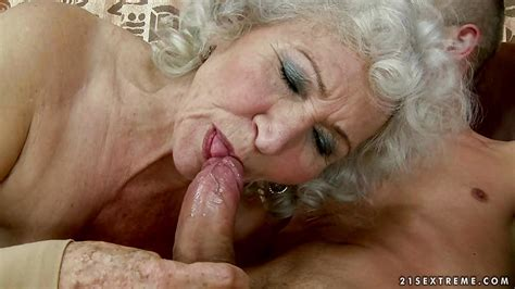 Horny Granny Gobbles Down On This Tasty Fuck Stick