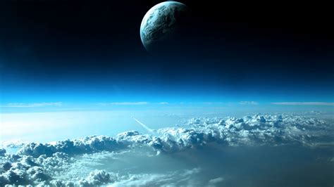Moon And Clouds Wallpaper by Moon Above The Clouds Hd Wallpaper Wide Screen Wallpaper