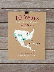 10 year anniversary gifts 10th anniversary personalized With 10 year wedding gift