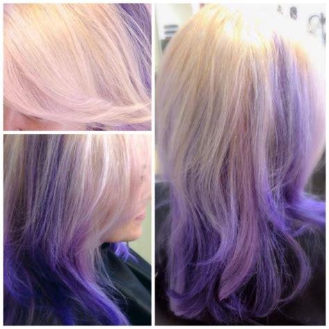 Blonde Above Purple Below Hair Colors Ideas