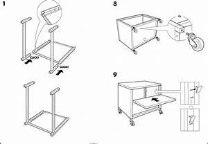 Ikea Ps Cabinet W Casters 23 5 8x19 8 Assembly Instruction