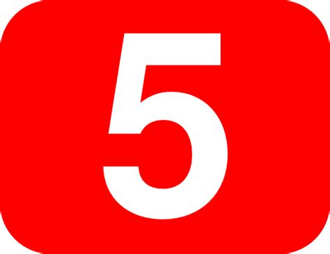 Number 5 Red Background Clip Art At Clker.com