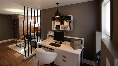 salon   bureau dans le sous sol deco tendance casa