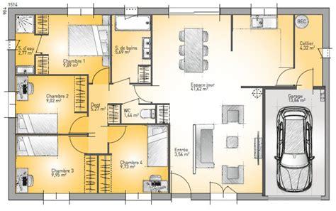 plan cuisine tunisienne plan de maison quatre pieces