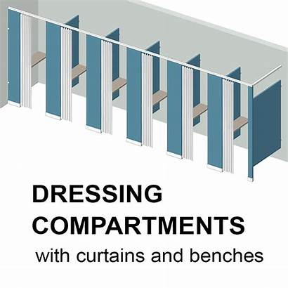 Partitions Changing Dressing Bathroom Stalls Compartments Stall