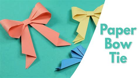easy origami  kids paper bow tie simple paper craft