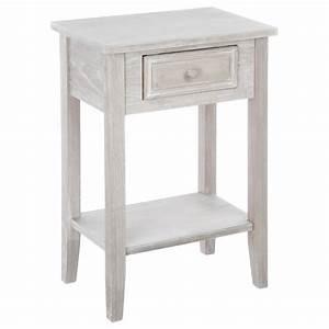 Table De Chevet Bois : table de chevet naturel charme en bois 1 tiroir atmosphera ~ Teatrodelosmanantiales.com Idées de Décoration