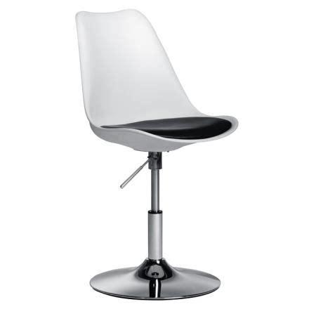 chaise de bureau blanche pied tulipe achat vente