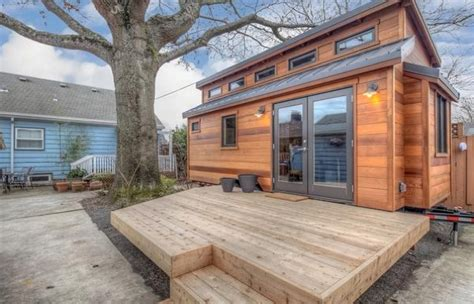 pictures of tiny houses to live in couple builds tiny home to live in their portland backyard