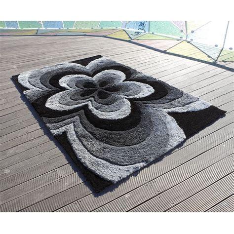 tapis 3d rose gris carving 140x200