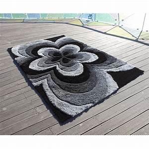Tapis Gris Rose : tapis carving 3d rose gris 200x300 ~ Teatrodelosmanantiales.com Idées de Décoration