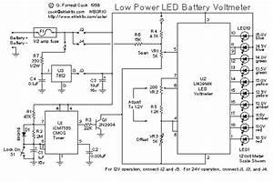 Low Power Led Voltmeter