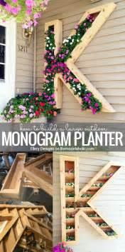 home design diy remodelaholic diy monogram planter tutorial