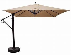 Parasol Avec Pied : parasol carr d port de 10 pieds avec tissu sunbrella beige ~ Teatrodelosmanantiales.com Idées de Décoration