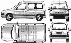 Dimension Peugeot Partner : blueprints cars peugeot peugeot partner 2004 ~ Medecine-chirurgie-esthetiques.com Avis de Voitures
