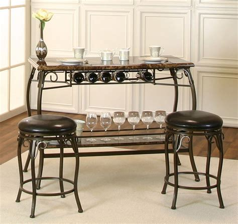 Bar Set by Marque 3 Counter Height Bar Set Bistro And Bar