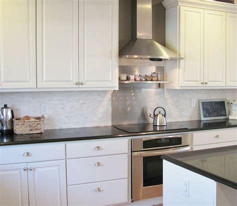 kitchen backsplash colors the kitchen before after leather black quartz