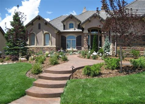 concrete front yard landscaping concrete walkway colorado springs co photo gallery landscaping network