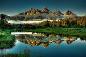 Nature, Landscape, Mountains, Wyoming, Wallpapers, Hd