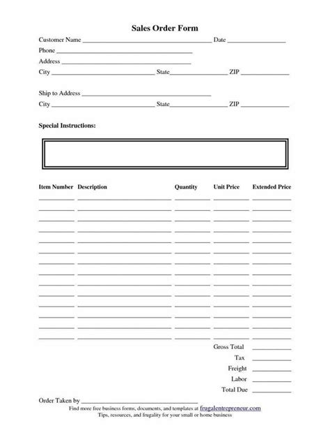templates  order forms images  pinterest