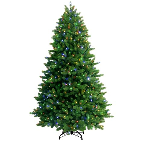 7 5 ft christmas tree with 1000 lights shop ge 7 5 ft pre lit spruce artificial christmas tree