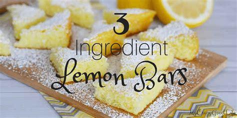 ingredient lemon bars  crazy good life