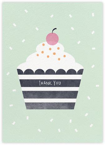 cupcake mint paperless post birthday card