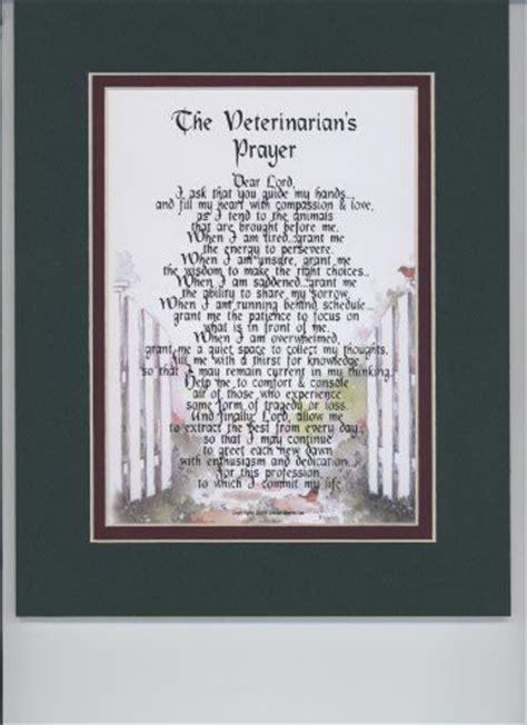veterinarians prayer touching  poem double