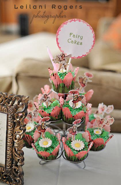 fairy cupcakes ideas  pinterest woodland