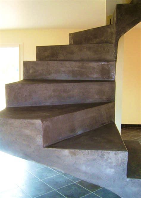 beton cire sur escalier beton beton cire sur bois le mans design